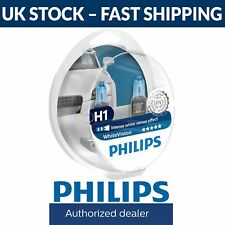 Philips White Vision 40% Whiter Light H1 Headlight Bulbs (Twin Pack) WhiteVision