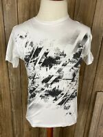 Apt 9 Mens Graphic Tee Crew Neck White /& Black Geometrical Design T-Shirt