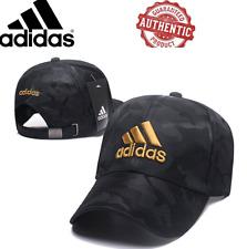 Adidas Baseball cap hat Gorra Black Gold Big Logo Men Unisex New