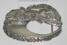 Huge Heavy 925 Sterling Silver Horse /& Skull Mens Biker Belt Buckle 9C010D