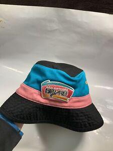 Retro Colorway Mitchell and Ness NBA San Antonio Spurs floppy bucket  Hat