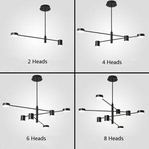 Large Chandelier Lighting Black Pendant Light Modern Ceiling Light Kitchen Lamp