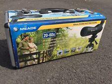 Zoom Spotting Scope Meade 20 - 60X Power 60mm Hard Case Tripod Waterproof New
