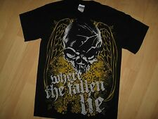 Where The Fallen Lie Tee - Metal Rock Band Concert Tour Winged Skull T Shirt Sm