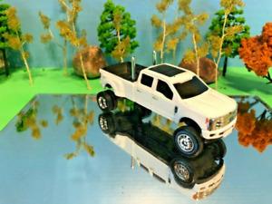 1/64 Custom Ford F350 Crew Cab, G5 Lift Kit Farm Toy Ertl Dual Exhaust Pipes NEW