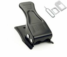 Nano & Micro Dual Sim Cutter 2in1 Free Micro, Nano Sim Adapter Eject Pin Black