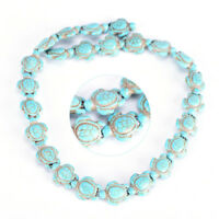 DIY Cute Turquoise Carved Turtle Spacer Beads Craft Jewelry Making WL