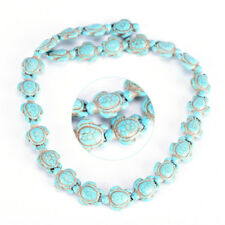 DIY Cute Turquoise Carved Turtle Spacer Beads Craft Jewelry Making LJ