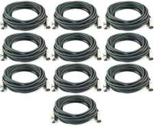 10 x 10 m 3-pol Mikrofonkabel Adam Hall K3 MMF 1000 XLR DMX Mikrofon Kabel 3 pol