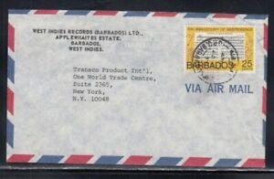 BARBADOS Commercial Cover Applewhaites Estate to World Trade Center 28-4-1977