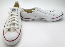 Converse Shoes Chuck Taylor Ox All Star White Sneakers Men 9.5 WO 11.5