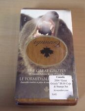 2004 Canada The Great Grizzly $8 Limited Edition Stamp and Silver Coin Set
