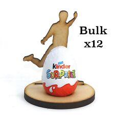 Wooden MDF Easter Footballer Craft Kinder Egg x12 Holder Perfect Easter Gift