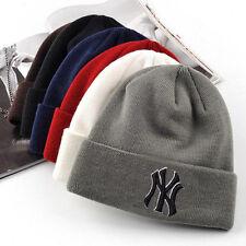 Fashion Men Women Winter Warm Beanie Skull Hat Hip-Hop Bboy Wool Knit Ski NY Cap