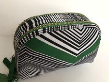 Sonia Kashuk Double Zip Cosmetic Travel Organizer Bag Green NWT