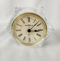 Vintage Howard Miller Crystal Clock Western Germany Excellent Condition