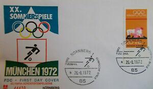 Brief Nürnberg  26.8.1972  Fußballweltmeisterschaft 1974 - Olympische Spiele