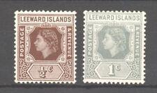 Leeward Islands QEII 1954, SG 126/127, MLH, lovely condition