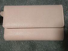 Wilsons Leather Full Size Zip & Snap Wallet    Bone     New     (T022K)