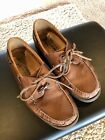 MEPHISTO Air Relax SPINNAKER Oxford Boat Shoes Brown Leather Lace-UP - US SIZE 8