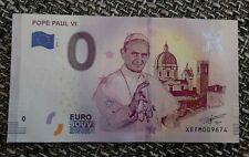 0 Euro Souvenir Schein - Pope Paul VI 2019-1
