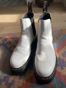 Dr. Martens Chelsea Boots Plateau Weiß 42