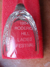 Stuart Crystal Glass Bell Roderick Hill Ladies Festival Chepstow Lodge Freemason