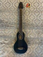Washburn Guitars RO10SBK-A-U Rover Acoustic Guitar with Gig Bag - Black