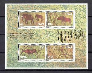 South West Africa - 1976, Prehistoric Rock Paintings, Souvenir Sheet of 4  MNH