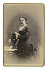 19th Century Fashion - 1800s Cabinet Card - Coffrin of Claremont, New Hampshire