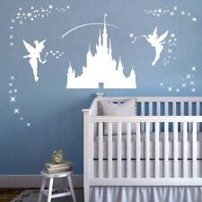 Disney Castle Girls Wall Art Sticker - Fairies Fairy Tinkerbell Stars