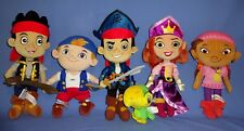 DISNEY  PLUSH JAKE AND THE NEVERLAND PIRATES SCULLY CUBBY PRINCESS IZZY LOT-6