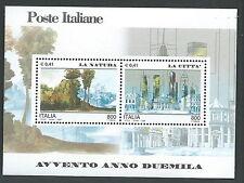 2000 ITALIA FOGLIETTO AVVENTO NATURA CITTA MNH ** - ED
