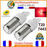 2x Ampoules 33 LED T20 7443 W21 5W Rouge Ampoule Stop Veilleuse W21/5W Frein