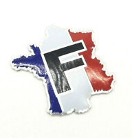 Sticker Aufkleber Emblem Flagge Logo Land Frankreich Metall selbstklebend