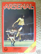 1986 League Cup Quarter Final REPLAY ARSENAL v ASTON VILLA, 4th Feb