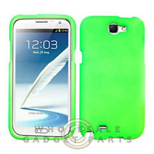Samsung N7100 Note 2 Shield Rubberized Bright Lime Green Case Cover Shell
