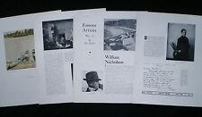 WILLIAM NICHOLSON PAINTER ARTIST ILLUSTRATOR 3pp ARTICLE 1933