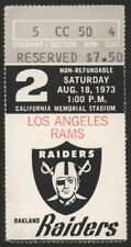 1973 Raiders vs Rams  Football Game Ticket Stub