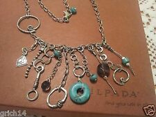Silpada Sterling Silver Turquoise Howlite Smoky Quartz Necklace N1985 Retired!
