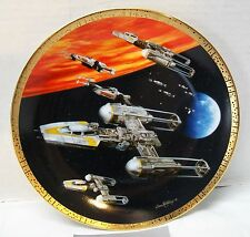 Star Wars Y-Wing Fighter 1997 Hamilton Plate #3171A New in Box with Coa