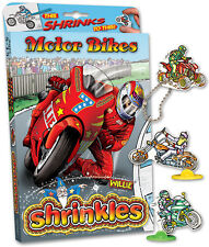 25 MOTOR BIKE EMBELLISHMENTS RACING SHRINKLES SHRINKIE SHRINK ART BUMPER BOX SET