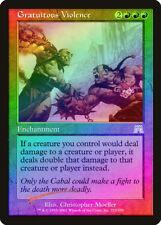 Gratuitous Violence FOIL Onslaught HEAVILY PLD Red Rare MAGIC MTG CARD ABUGames