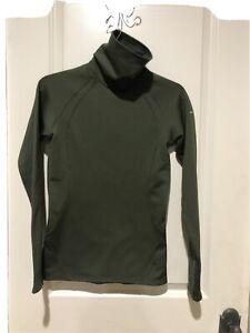 Columbia Stretch Shirt Turtle Neck Omni-wick Long Sleeve Women's XS Green