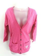 HOLLISTER Womens Cardigan Jumper Jacket S Small Pink Cotton Viscose Nylon