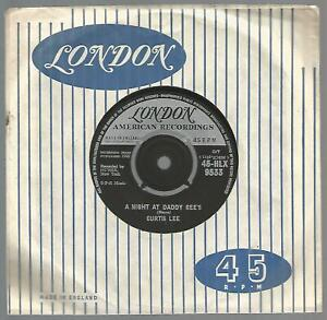 Curtis Lee - A Night At Daddy Gee's UK 1962 45 VG