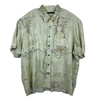 Natural Issue Button Down Shirt 2XL Men's Pockets Short Sleeve