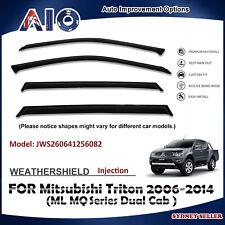 AD WEATHERSHIELD WINDOW VISOR FOR Mitsubishi Triton ML MQDual Cab 2006-2014