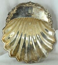 "Old Joseph Elliot & Sons, England Silverplated 7 3/8"" Claim Shell, Factum Crest"