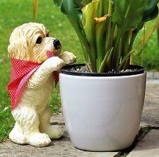 Peeping Puppy Garden Ornament Dog Decoration Plant Pot Outdoor Weatherproof